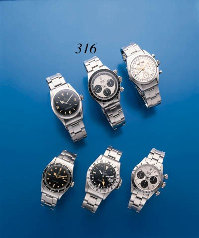 ROLEX.  A STAINLESS STEEL WATE
