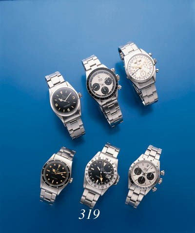 ROLEX.  A STAINLESS STEEL SELF