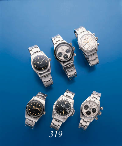 ROLEX.  A STAINLESS STEEL SELF-WINDING WATERPROOF WRISTWATCH WITH DATE AND SWEEP CENTER SECONDS