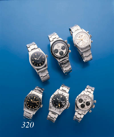 ROLEX.  A STAINLESS STEEL SELF-WINDING WATERPROOF WRISTWATCH WITH SWEEP CENTER SECONDS