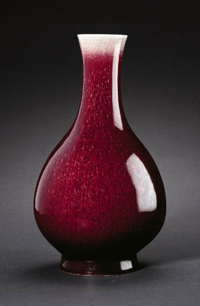 A LANGYAO PEAR-SHAPED VASE