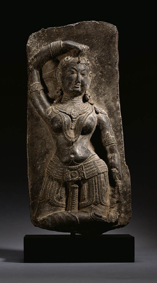 A slate stele of a Celestial N