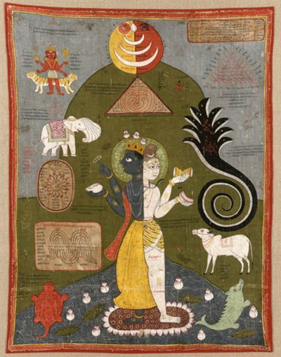 A painting on cloth of Harihar