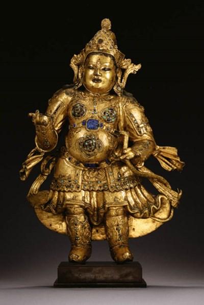 An important gilt bronze figur