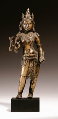A bronze figure of Padmapani