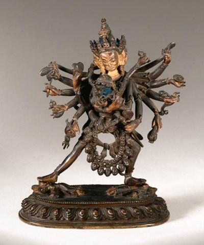 A bronze figure of Samvara
