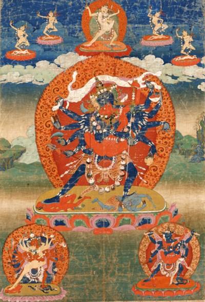 A large thanka of Chakrasamvar