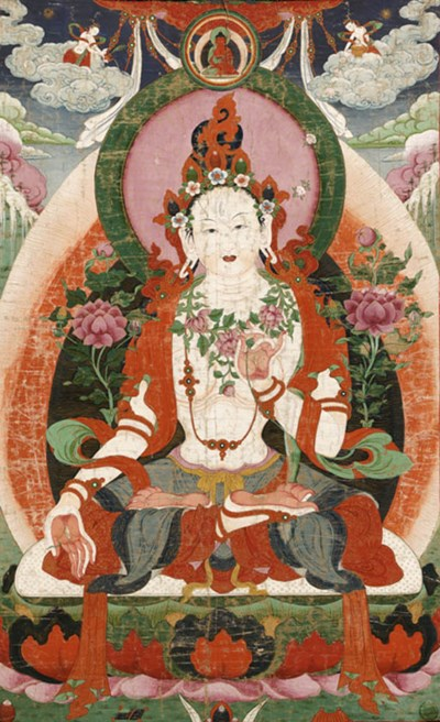 A large thanka of White Tara