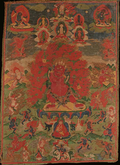A thanka of a dharmapala