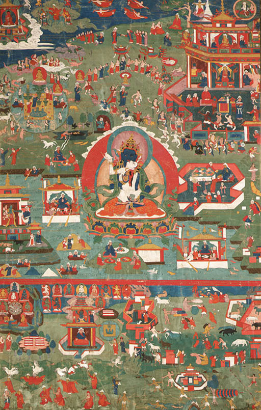 A thanka of Vajrasattva