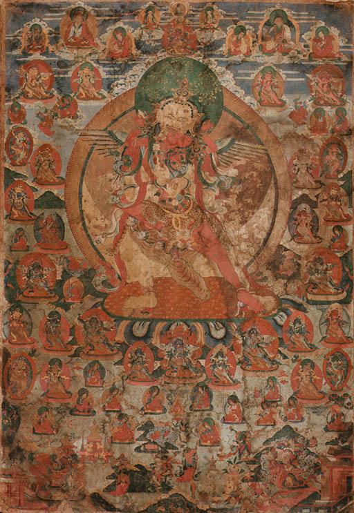 A large thangka of Heruka