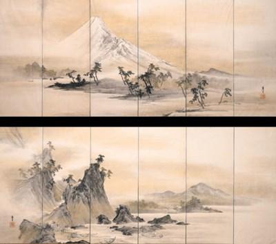 Mount Fuji and Fishermen (19th
