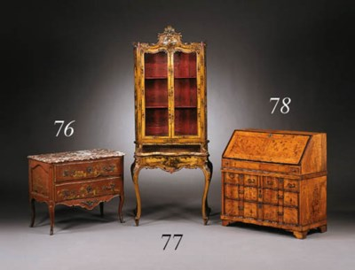 A GERMAN BAROQUE FRUITWOOD AND