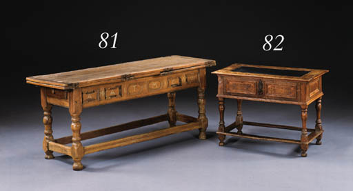 A SWISS BAROQUE FRUITWOOD DRAW