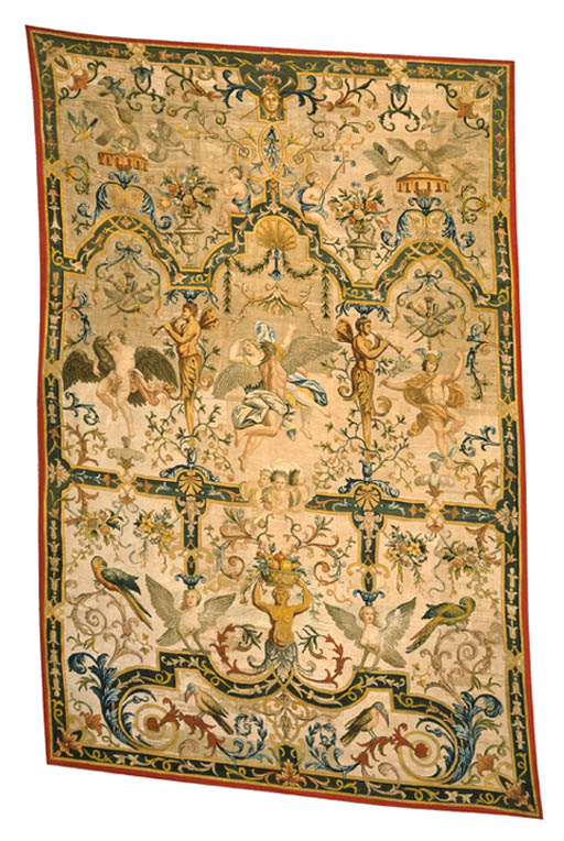 A LOUIS XIV NEEDLEPOINT HANGING
