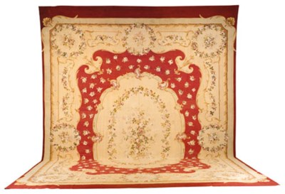 AN AUBUSSON CARPET