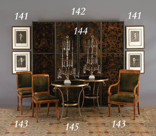 A SUITE OF CHARLES X AMARANTH-