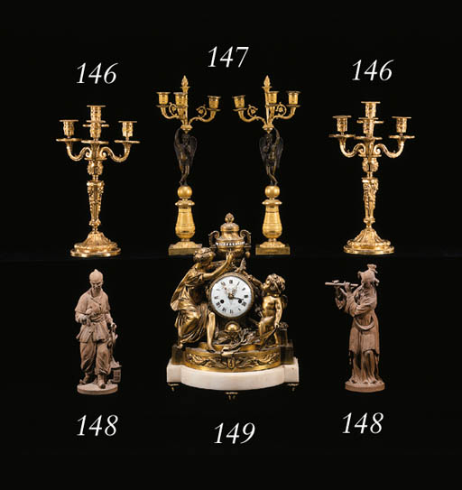 A LOUIS XVI STYLE ORMOLU AND W