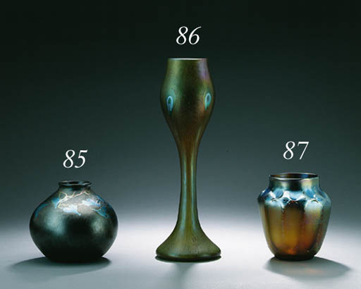 A FAVRILE GLASS VASE