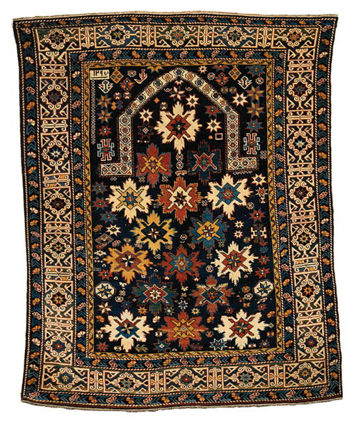 A SHIRVAN PRAYER RUG