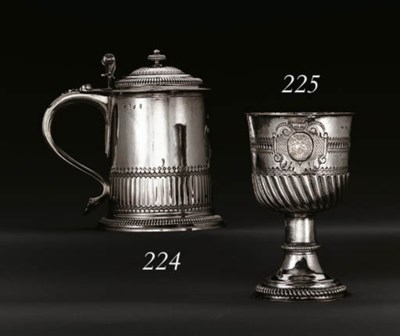 A LARGE QUEEN ANNE SILVER GOBL