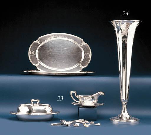 A SILVER DINNER SERVICE