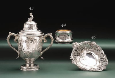 A SILVER CUP AND COVER
