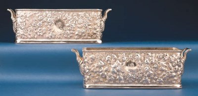 TWO SILVER-GILT WINE COOLERS