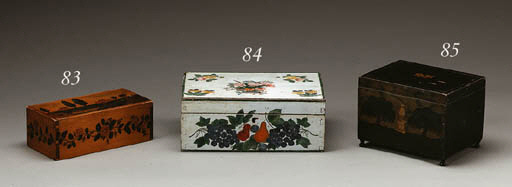A PAINT-DECORATED BOX