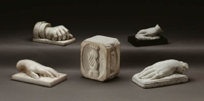 A GROUP OF CARVED MARBLES