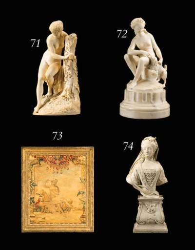 A FRENCH MARBLE FIGURAL GROUP