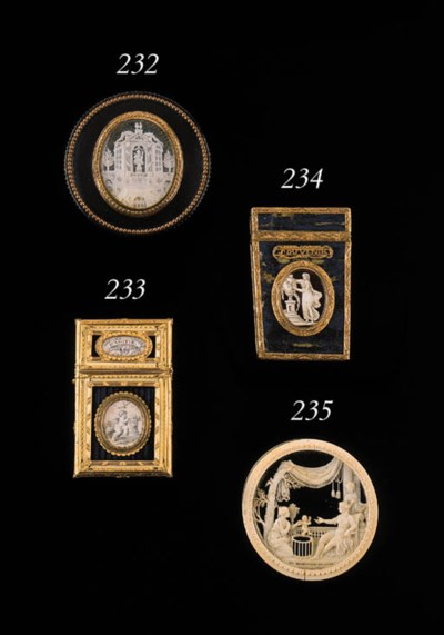 A LOUIS XVI GOLD, IVORY AND HA