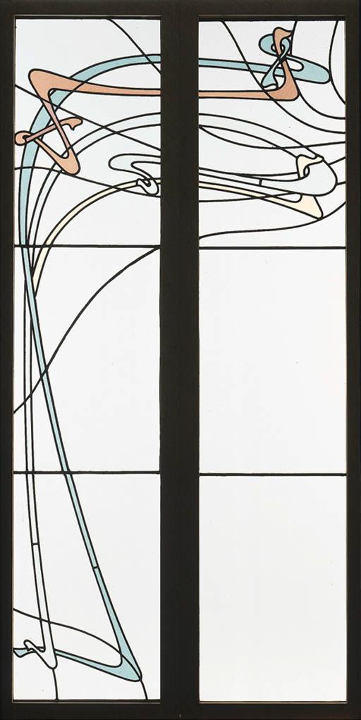 TWO LEADED GLASS WINDOWS