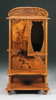 A FINE MARQUETRY AND CARVED MA