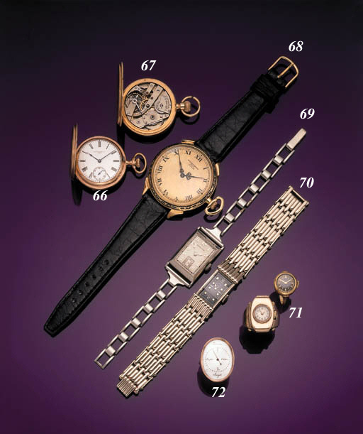 A LOT OF TWO GOLD RING WATCHES