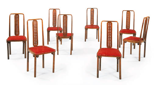 A SET OF EIGHT BENTWOOD SIDE C