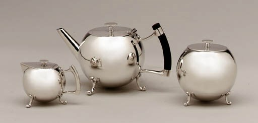 A THREE-PIECE SILVER-PLATED ME