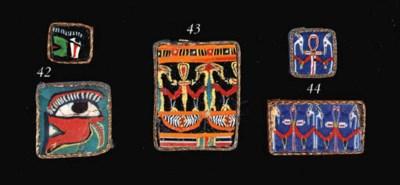 TWO EGYPTIAN MOSAIC GLASS INLA