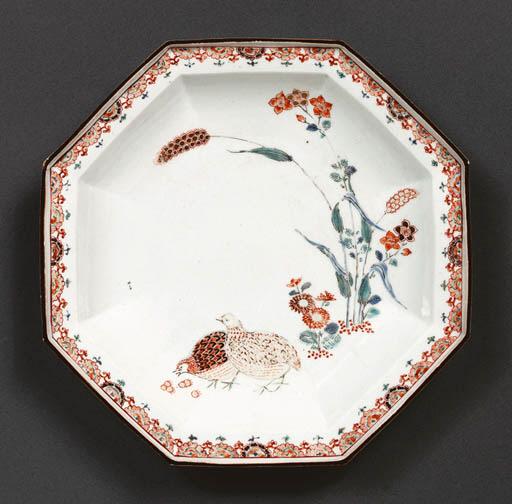 An Octagonal Porcelain Dish