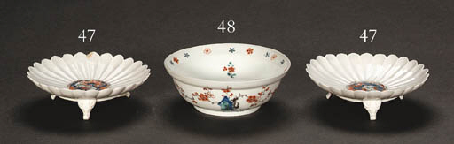 A Pair of Porcelain Fluted and