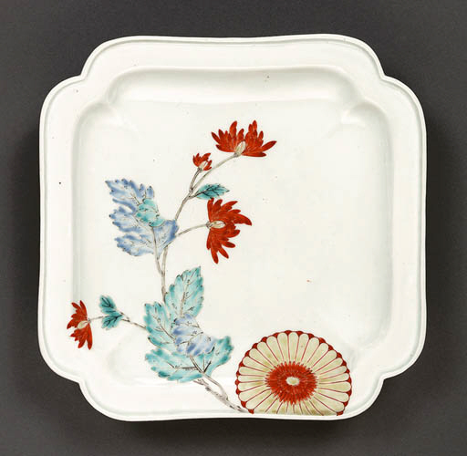 A Square Porcelain Dish with C