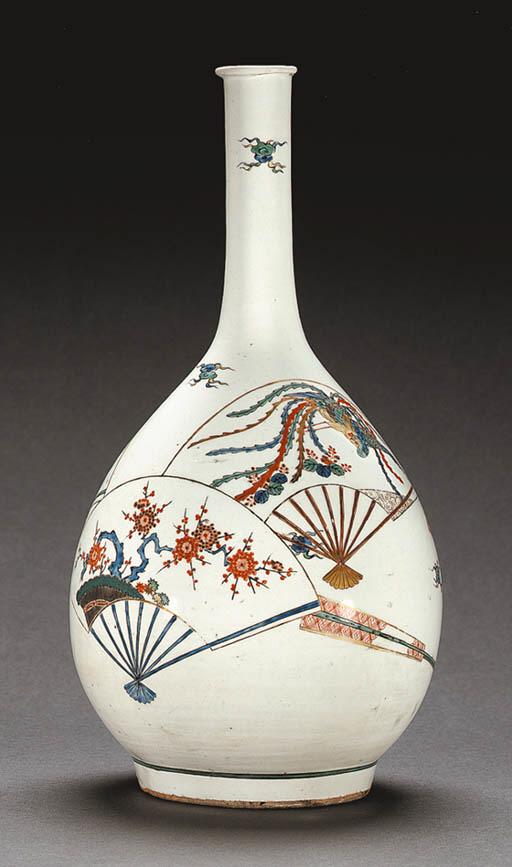 A Large Porcelain Bottle