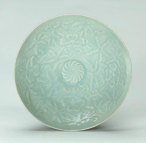 An Impressed Celadon Bowl