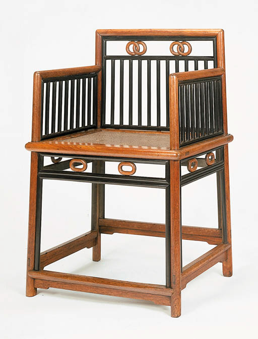 A Huanghuali and Wumu Chair, M