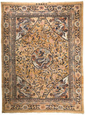 A Large Silk and Metallic Thre