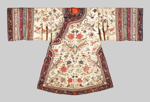 A White-Ground Embroidered Sil