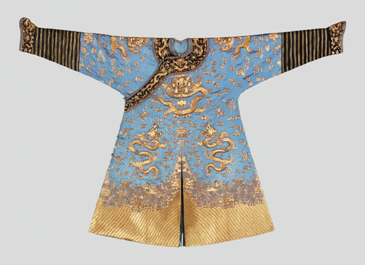 A Gold-Embroidered Pale Blue-G