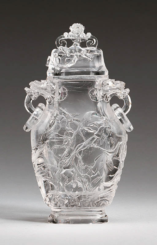 A Rock Crystal Vase and Cover