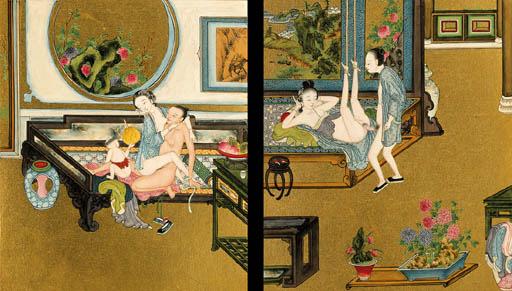An Album of Twelve Erotic Pain