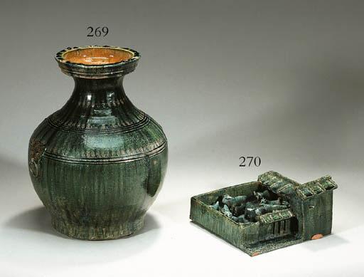 A Green-Glazed Red Pottery Mod